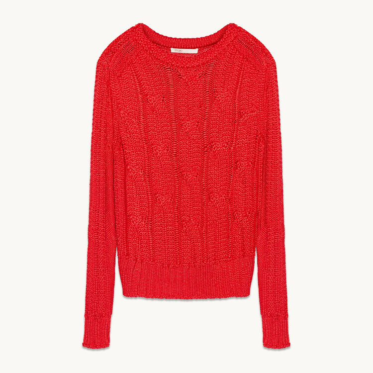 Ribbed knit jumper - Sweaters - MAJE