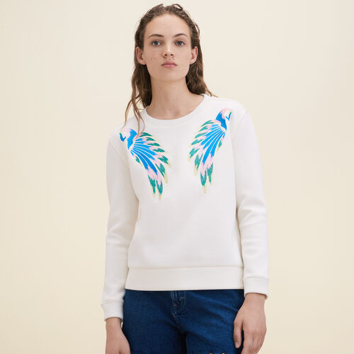 Embroidered sweatshirt - Sweaters - MAJE