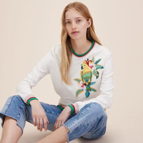 XXL embroidered sweatshirt - Sweaters - MAJE