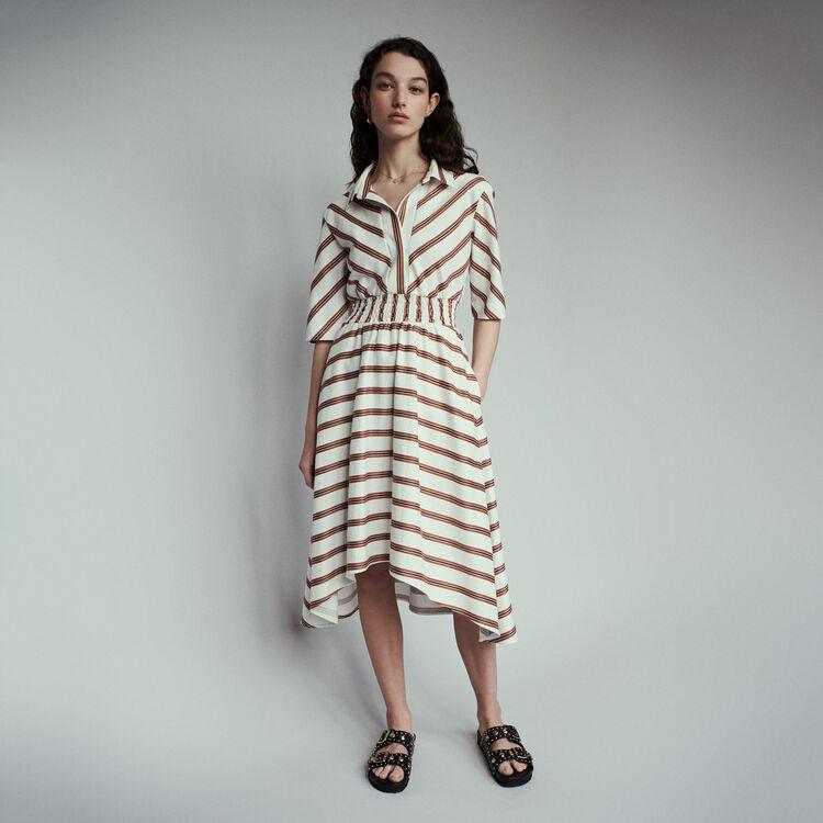마쥬 MAJE ROMALA Long striped shirt dress,Stripe