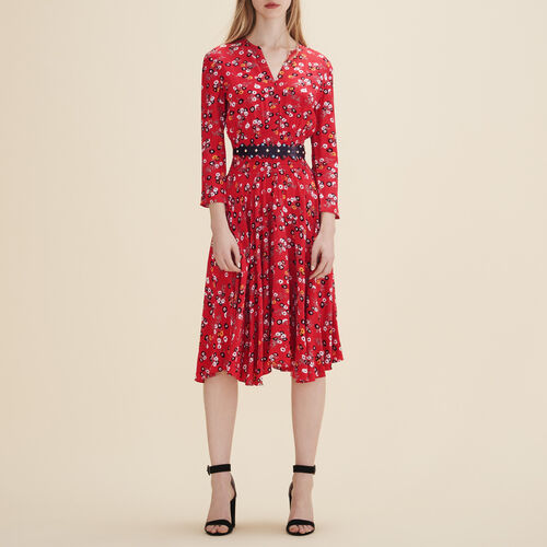 Printed midi dress - Dresses - MAJE
