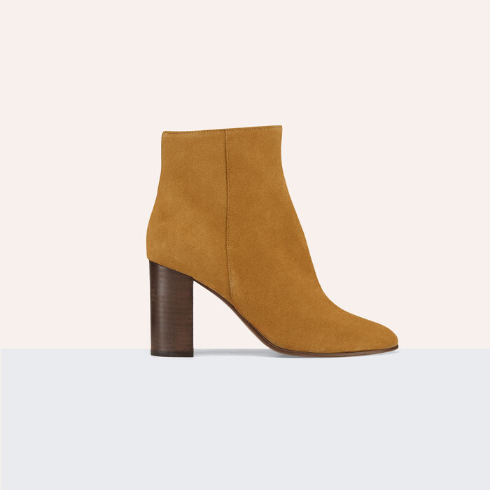 Suede leather ankle boots -  - MAJE