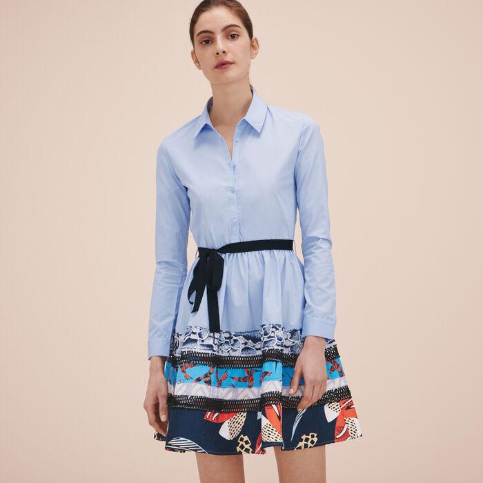 Poplin shirt dress -  - MAJE