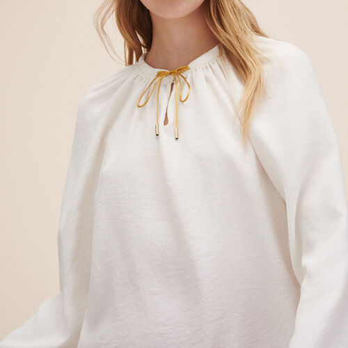 Floaty top with tie - Tops & Shirts - MAJE
