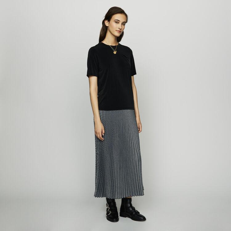 마쥬 TONIC 반팔 티셔츠 MAJE TONIC Cupro T-shirt,Black 210