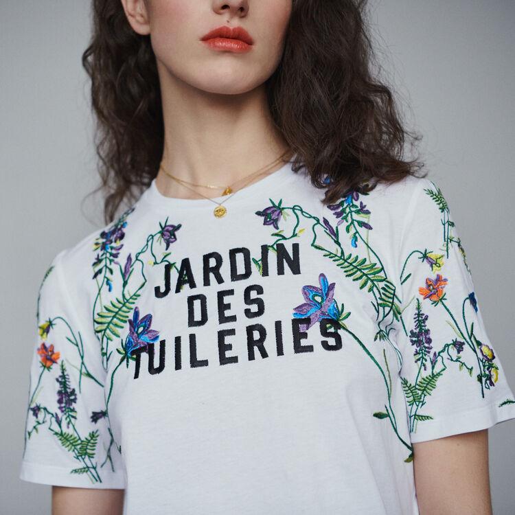 마쥬 TOBIN 엠브로이더드 반팔 티셔츠 MAJE TOBIN Embroidered T-shirt,White