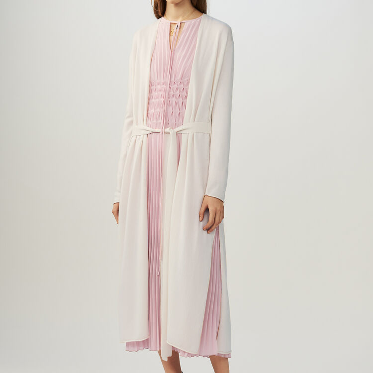 마쥬 MARINA 벨트 롱 가디건 MAJE MARINA Belted long cardigan,Ecru