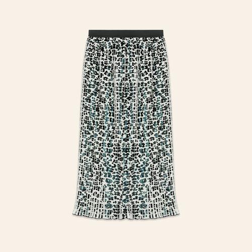 Leopard-print pleated skirt - Majexclusive - MAJE