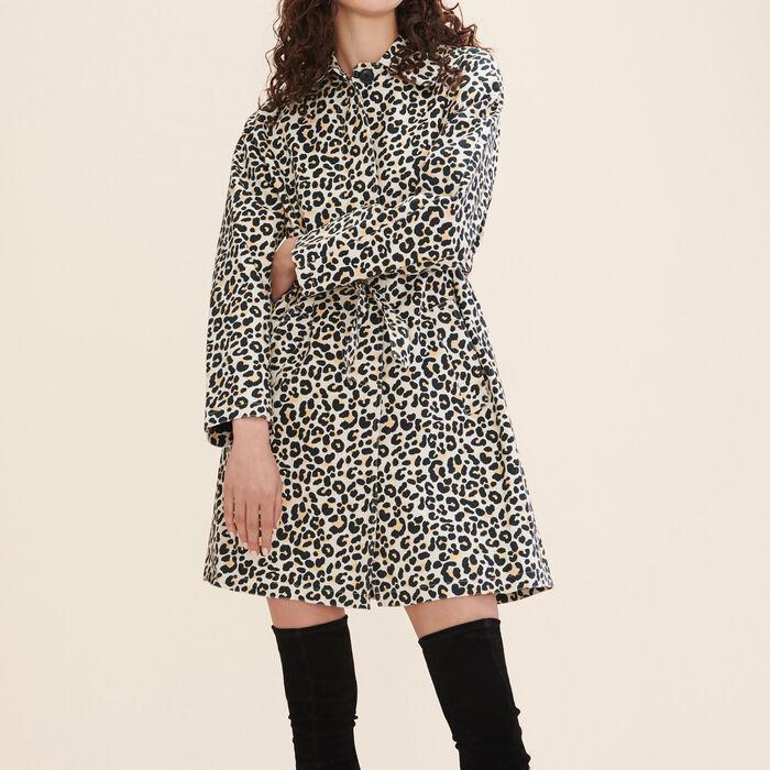 Leopard print coat - Coats & Jackets - MAJE