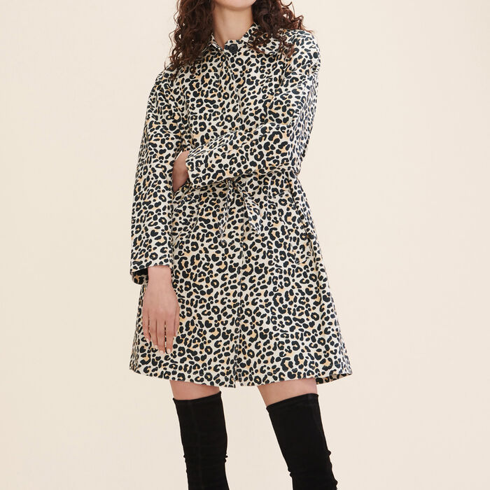 Leopard print coat -  - MAJE