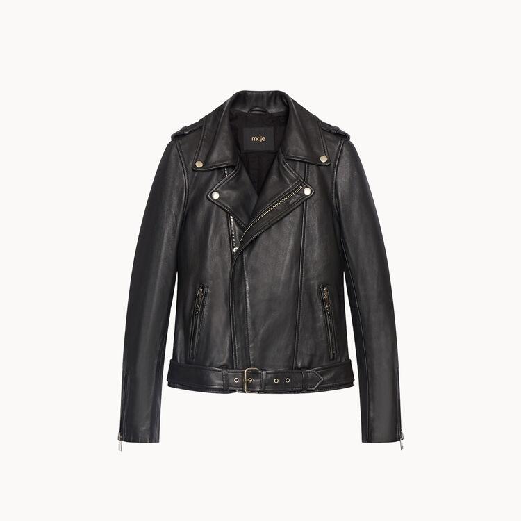 Lambskin bubble leather jacket - Coats & Jackets - MAJE