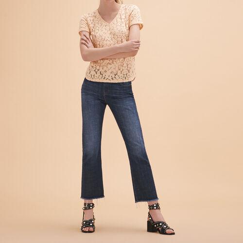 Dévoré lace T-shirt - Tops & Shirts - MAJE