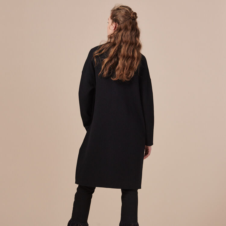 Long locknit cardigan - Sweaters - MAJE