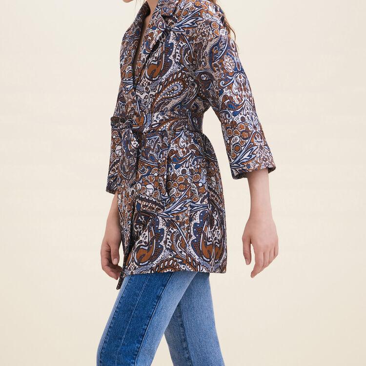 Long jacquard jacket - Coats & Jackets - MAJE
