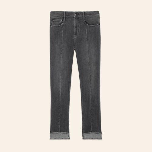 Asymmetric hem jeans - Pants & Jeans - MAJE