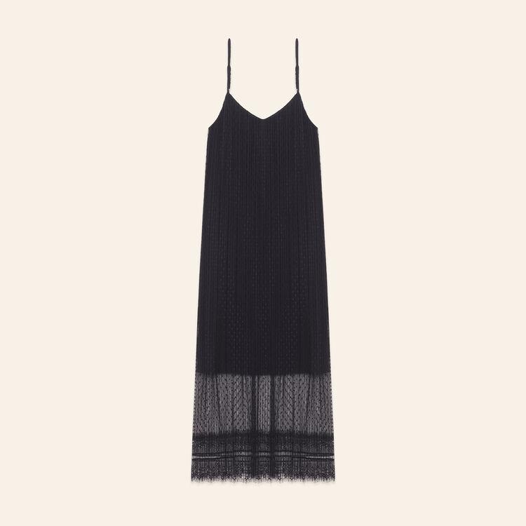 Sleeveless midi dress in dotted Swiss - Dresses - MAJE