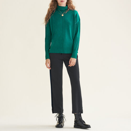 Cashmere roll-neck jumper - Sweaters - MAJE