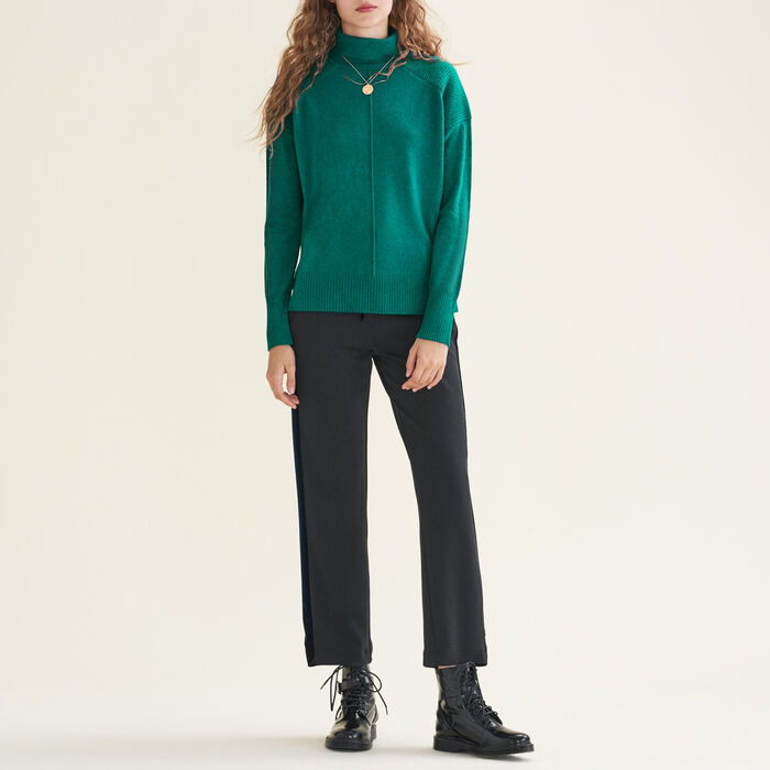 Cashmere roll-neck jumper -  - MAJE