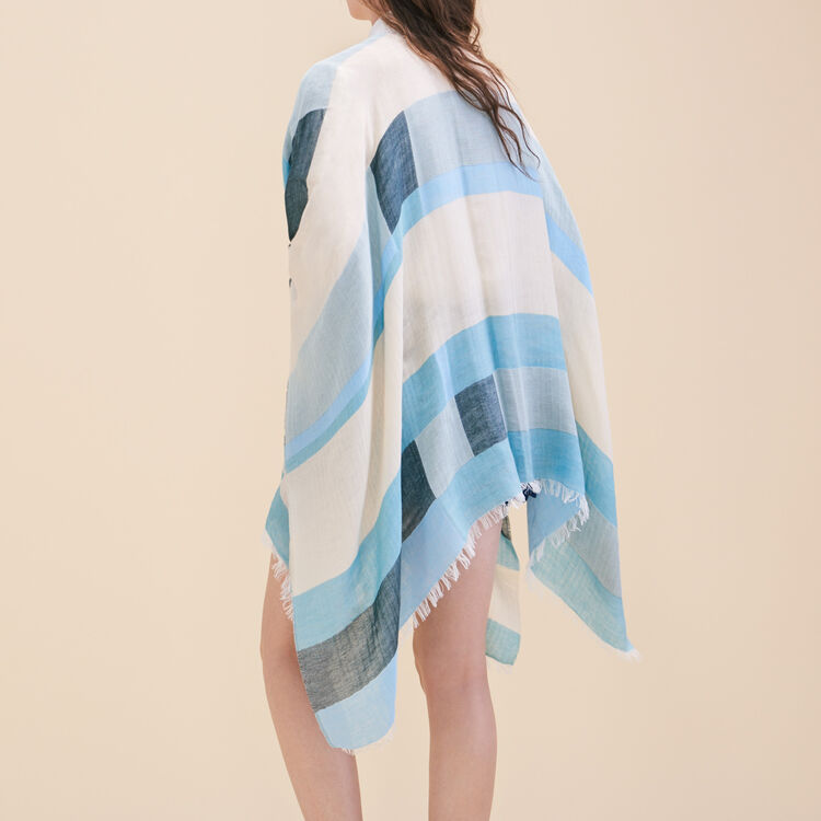 Lightweight poncho with graphic print - Shoes & Accessories - MAJE
