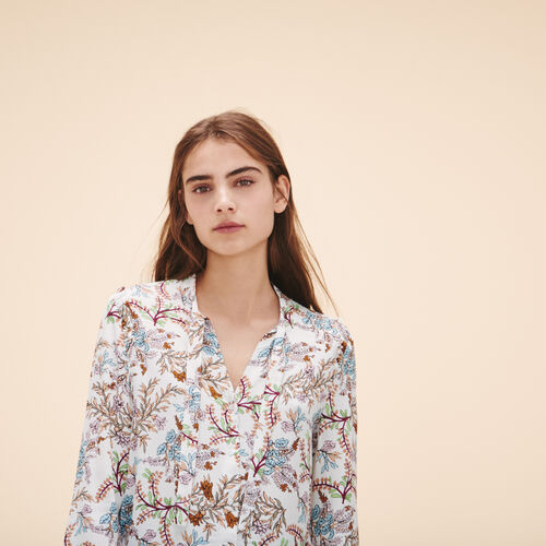Printed floral blouse - Tops & Shirts - MAJE