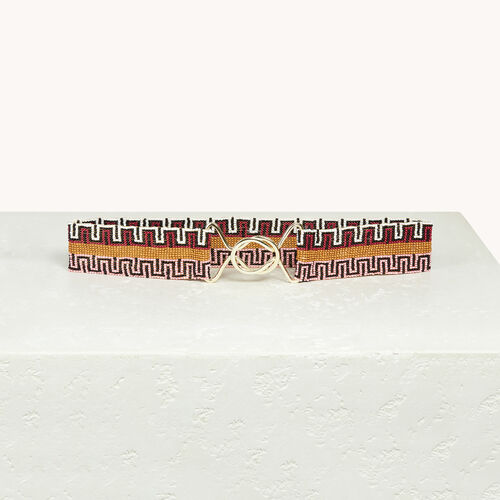 Beaded belt - Shoes & Accessories - MAJE