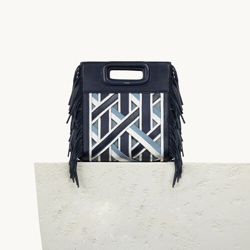 Leather M bag with braiding - Shoes & Accessories - MAJE