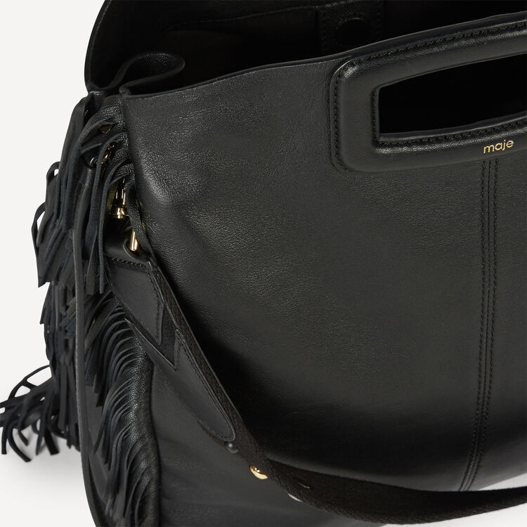 Leather bag with fringing - Maje Road Trip - MAJE