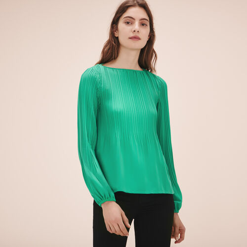 Top with pleating - Tops & Shirts - MAJE
