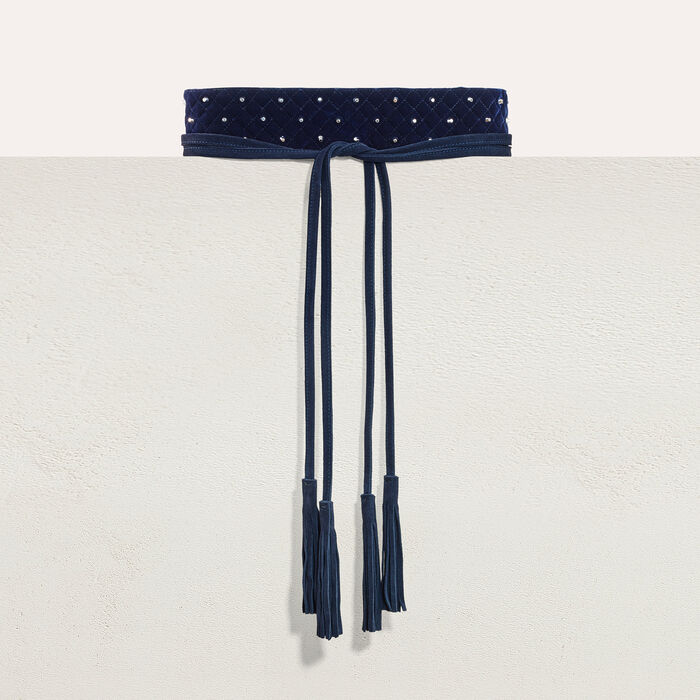 Wide tie belt with studs -  - MAJE