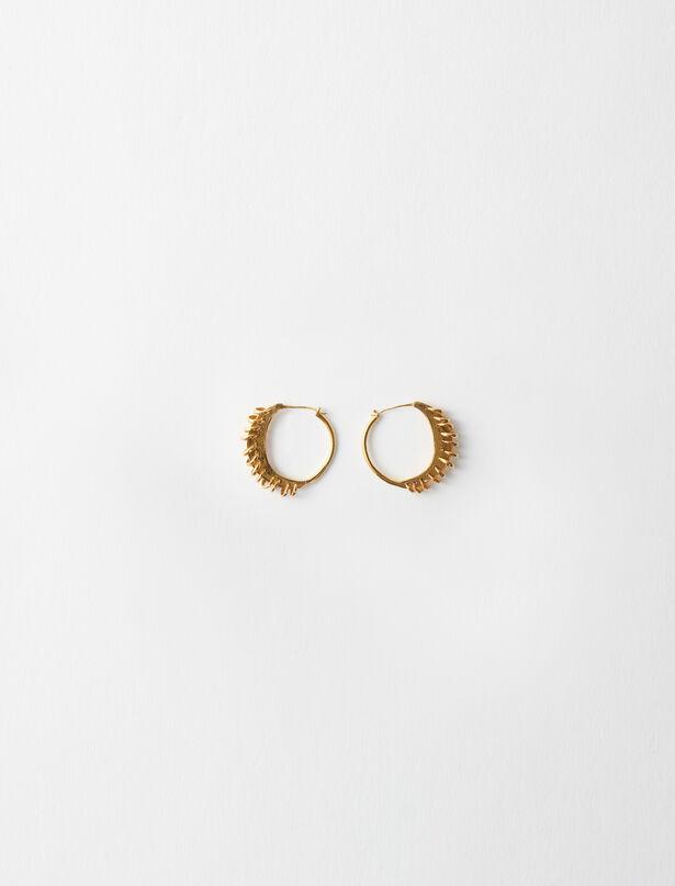 마쥬 귀걸이 MAJE 220NCREOLEBERBERE PM Gold-plated Creole earrings,Gold