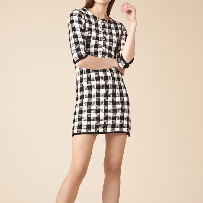 Short knit dress -  - MAJE