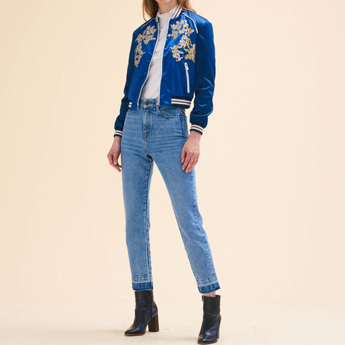 Embroidered bomber jacket - Coats & Jackets - MAJE