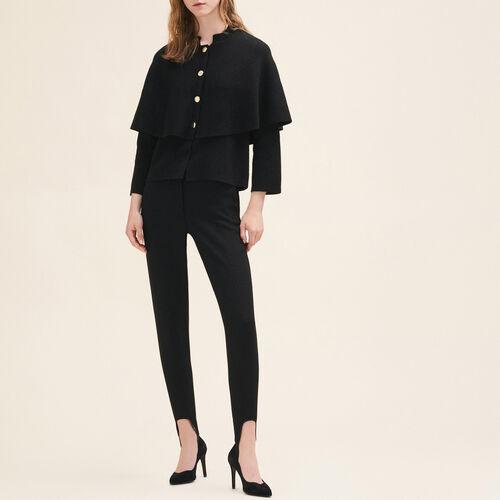 Short cape-style cardigan - Sweaters - MAJE