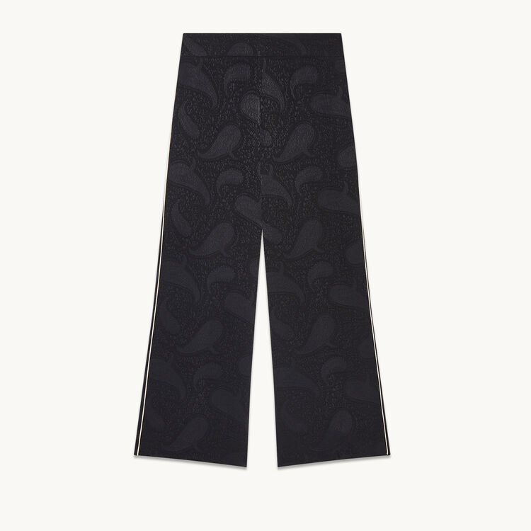 Wide-leg trousers with brocade print - Pants & Jeans - MAJE