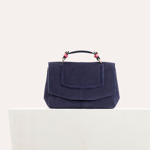 Mini satchel in two-tone suede - All bags - MAJE