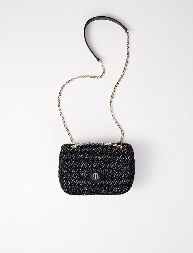 마쥬 크로스바디백 스몰 MAJE 220CUTE Small bag with contrasting tweed flap
