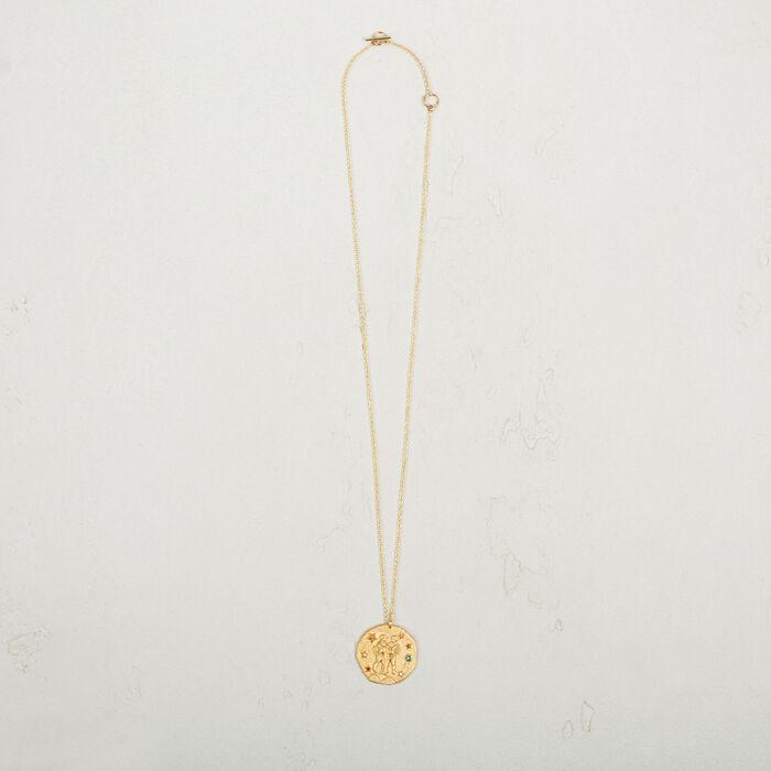 Gemini zodiac sign necklace -  - MAJE