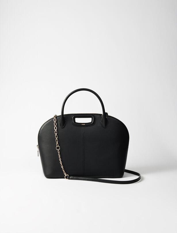 마쥬 핸드백 라지 MAJE 220DAYBAGGM Large smooth leather handbag,Black