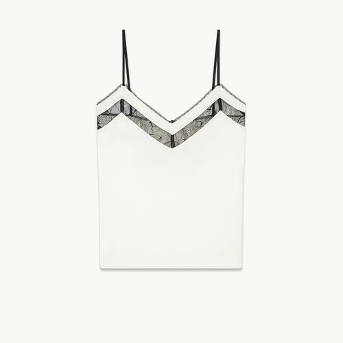 Camisole with lace - Tops & Shirts - MAJE