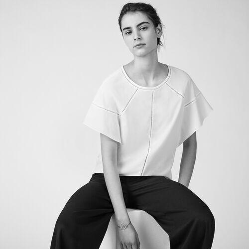 Loose cotton top - Tops & Shirts - MAJE