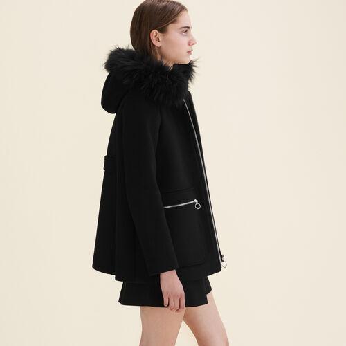 Coat with decorative zips - Coats & Jackets - MAJE