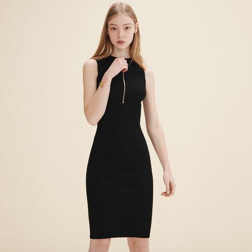 Knitted sleeveless dress - Dresses - MAJE