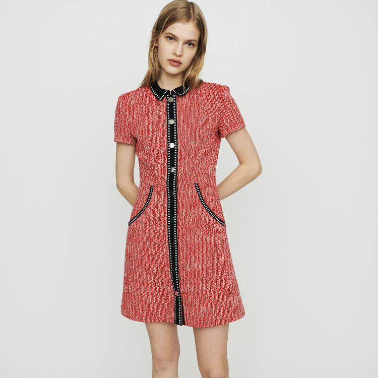 마쥬 RENATI 트위드-스타일 원피스 레드 MAJE Tweed-style dress,Red