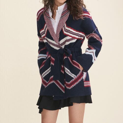 Jacquard cardigan - Sweaters - MAJE