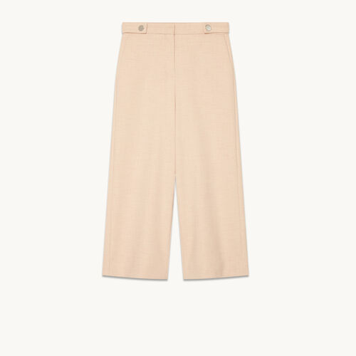Wide cropped trousers - Pants & Jeans - MAJE