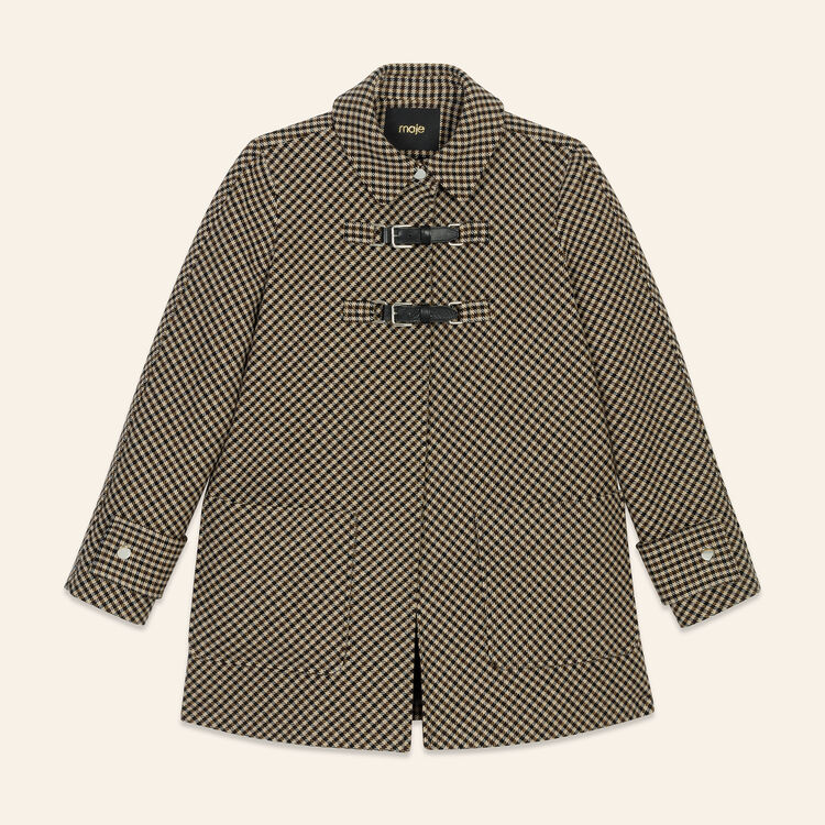 Coat with Prince of Wales-style checks - Coats & Jackets - MAJE