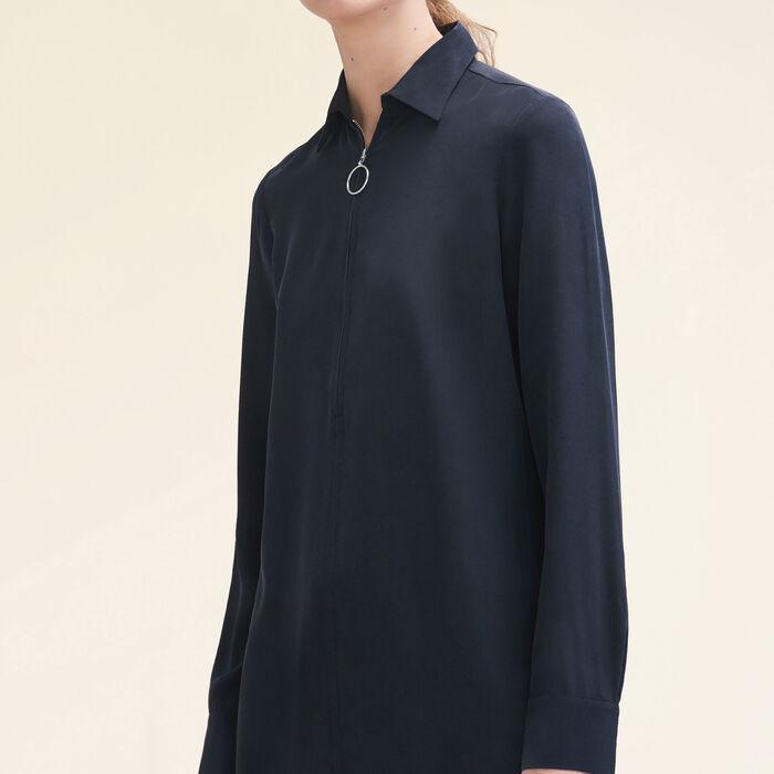 Silk shirt with zip - Tops & T-Shirts - MAJE