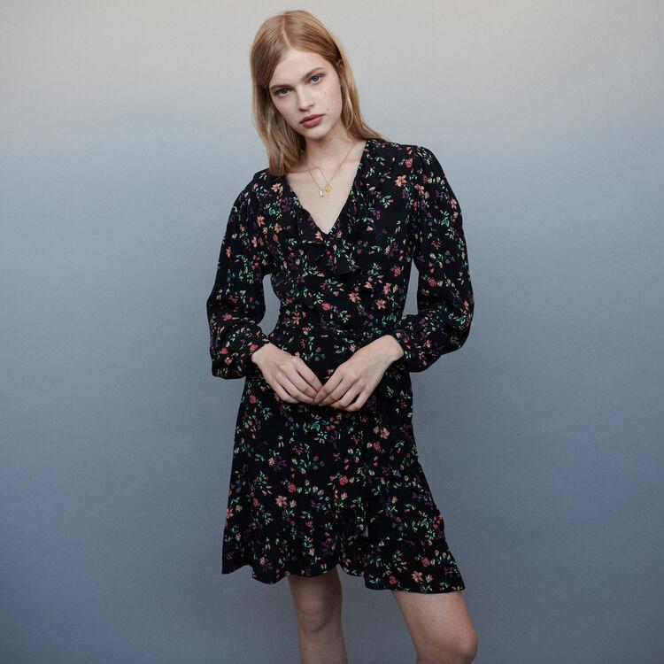 마쥬 ROSALIO 프린티드 랩 원피스 MAJE Printed wrap dress,PRINTED