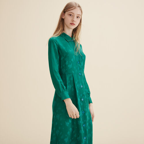 Silk shirt dress - Dresses - MAJE