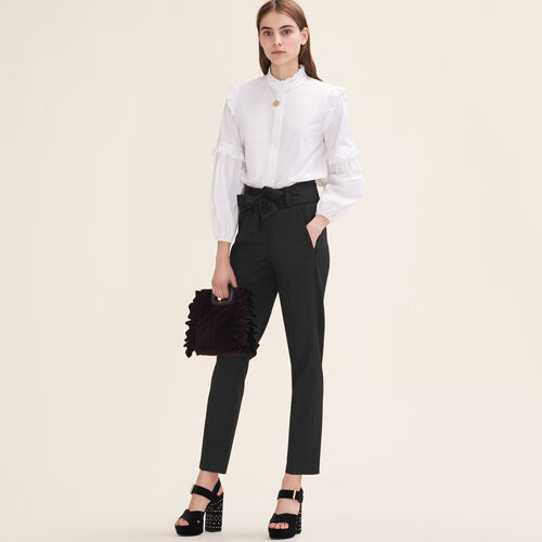 Carrot trousers with bow - Pants & Jeans - MAJE